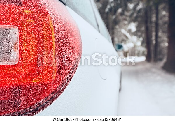 Winter on the road - csp43709431
