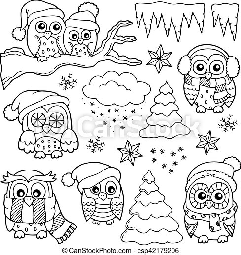 Icons Coloring Book Pages