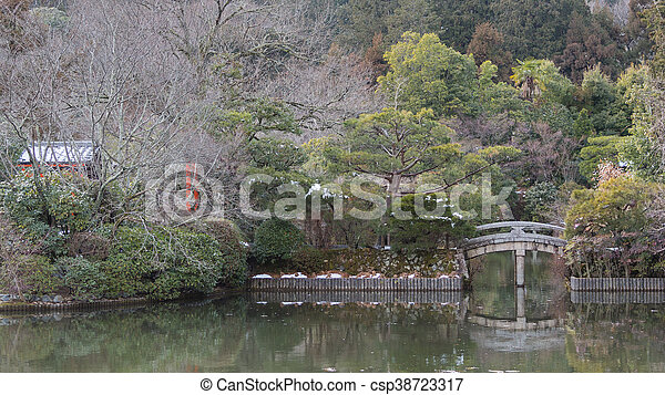 Winter Park in Kyoto, Japan - csp38723317