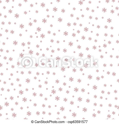 Winter red snow pattern background. vector illustration. - csp63591577