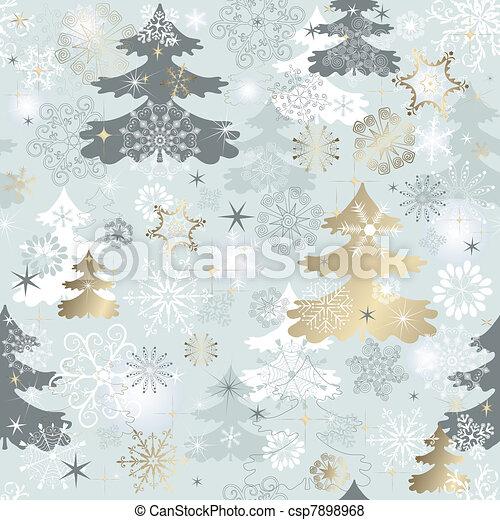 Winter repeating pattern  - csp7898968