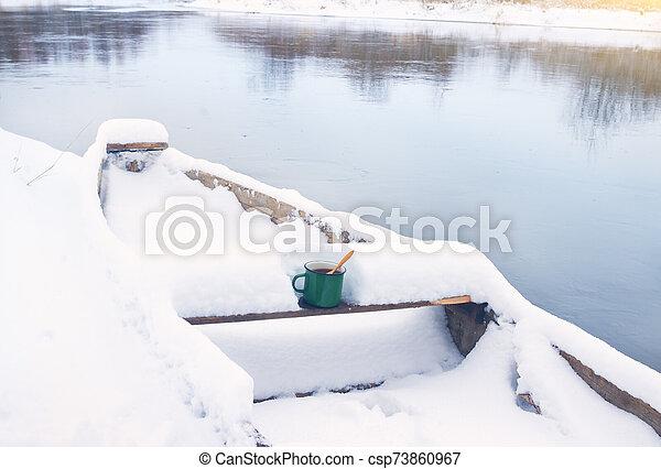 winter river - csp73860967