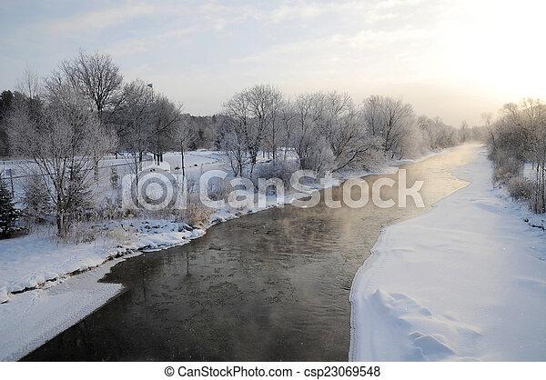 Winter river - csp23069548