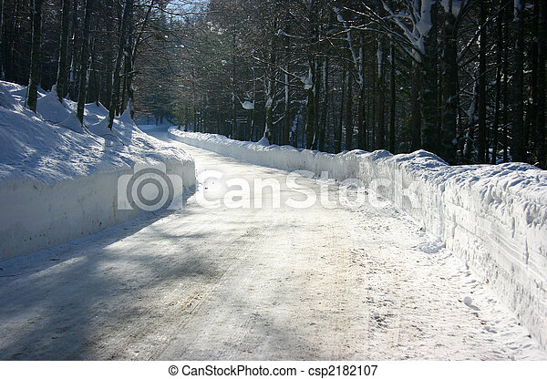 Winter road - csp2182107