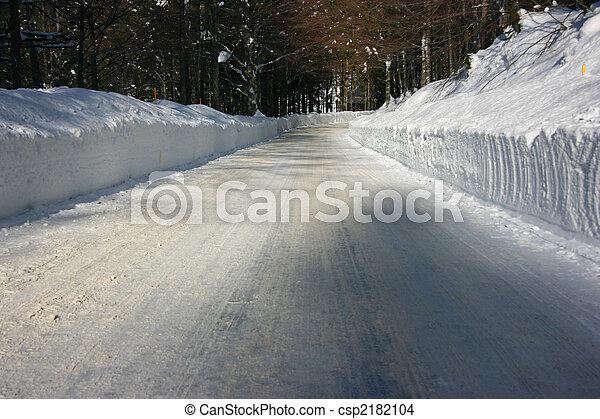Winter road - csp2182104