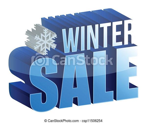 winter sale 3d text illustration - csp11506254