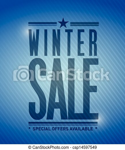 winter sale banner illustration design - csp14597549