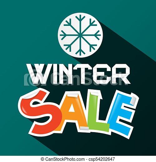 Winter Sale Design - csp54202647