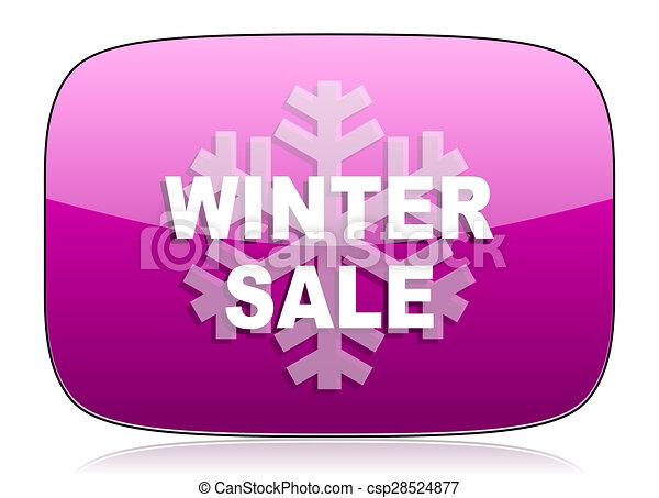 winter sale violet icon - csp28524877