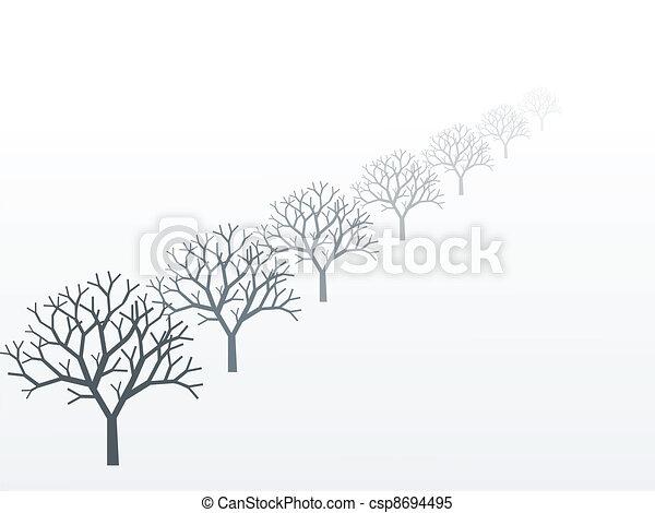 winter scenery - csp8694495