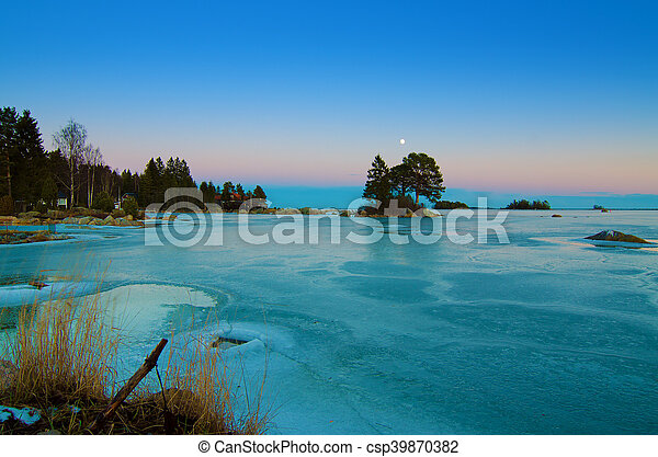 Winter sea landscape - csp39870382