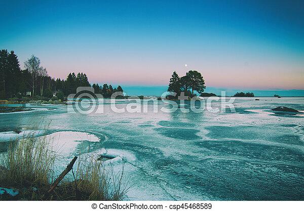 Winter sea landscape - csp45468589