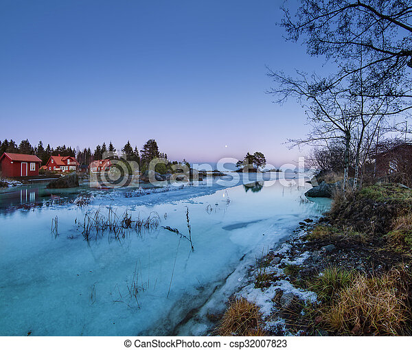 Winter sea landscape - csp32007823