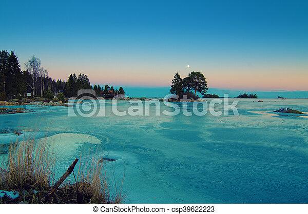 Winter sea landscape - csp39622223
