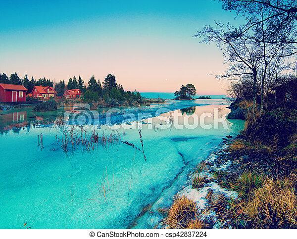 Winter sea landscape - csp42837224