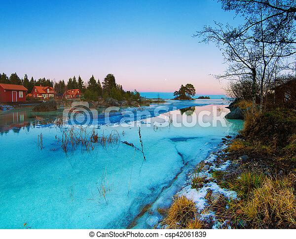 Winter sea landscape - csp42061839