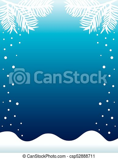 Winter Snow Background Background for Invitation or Poster - csp52888711