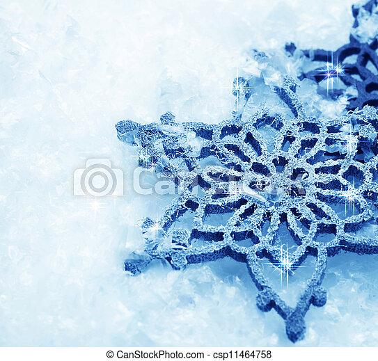 Winter Snow Background. Snowflakes - csp11464758