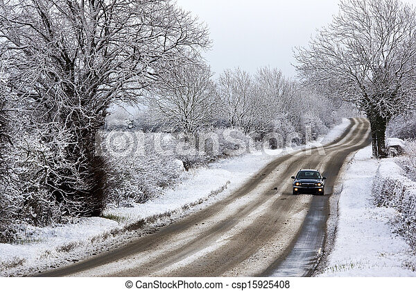 Winter snow in the United Kingdom - csp15925408