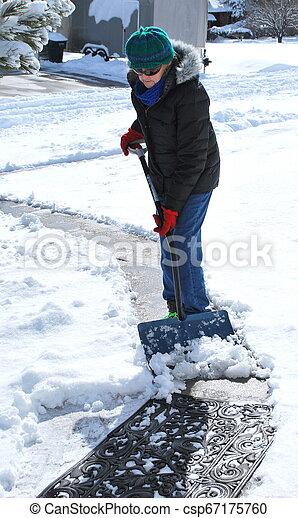 Winter snow outdoors. - csp67175760