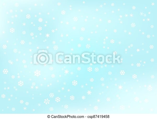 Winter snowfall background. Abstract background - csp87419458