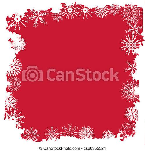 Winter snowflake border - csp0355524