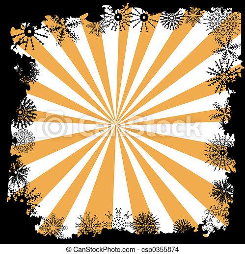 Winter snowflake border - csp0355874