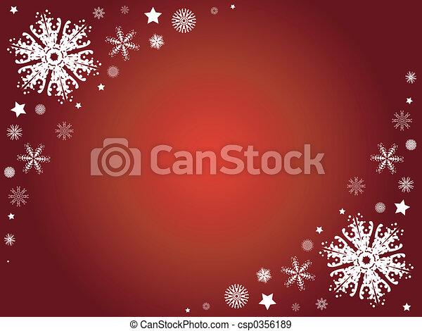 Winter snowflake border - csp0356189