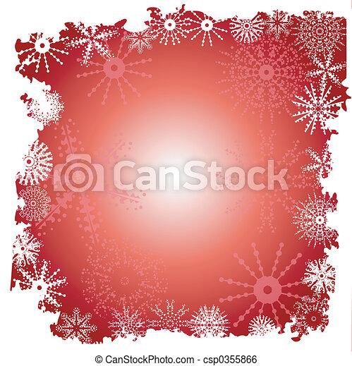 Winter snowflake border - csp0355866