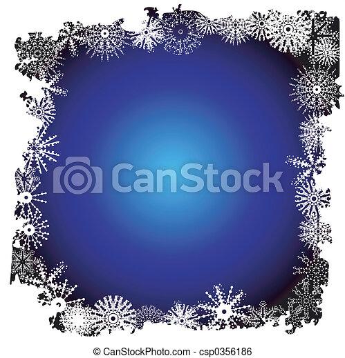 Winter snowflake border - csp0356186