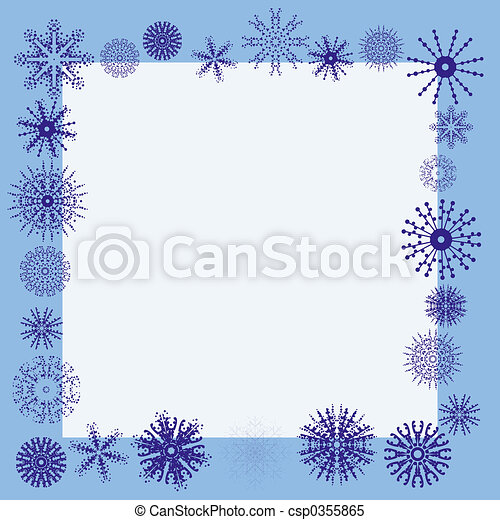 Winter snowflake border - csp0355865