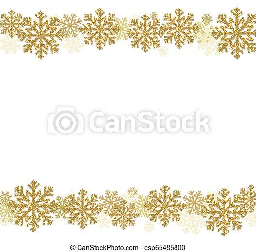 Winter Snowflake Border - csp65485800