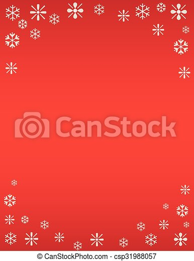 Winter Snowflake Holiday Template - csp31988057