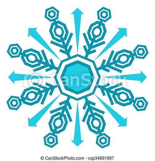 Winter Snowflake Icon - csp34691897