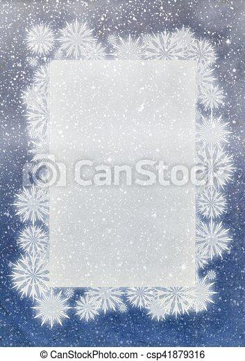 Winter snowflakes frame.