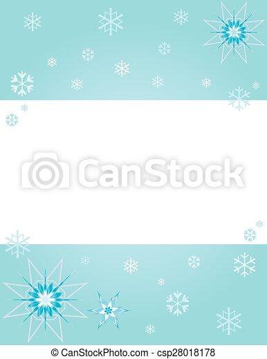 winter snowflakes - csp28018178