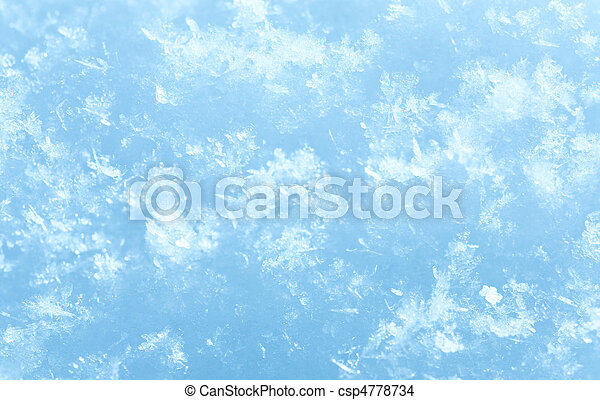 Winter snowflakes on snow surface (macro) - csp4778734