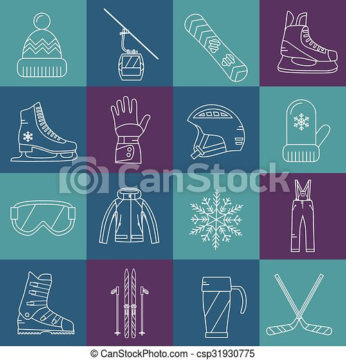 Winter sport icons set  - csp31930775