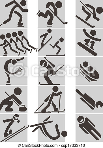 Winter sport icons - csp17333710