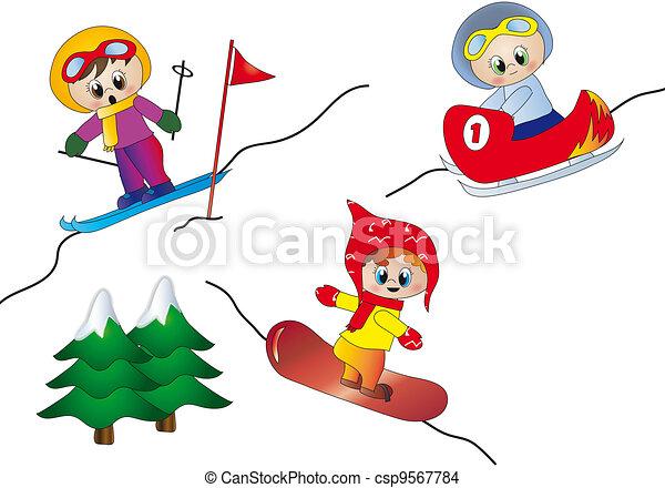 winter sports illustration rh canstockphoto com Winter Clip Art winter sports clipart free