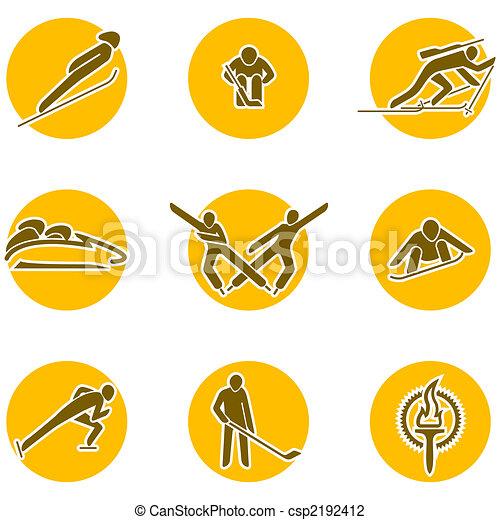 winter sports icon set - csp2192412