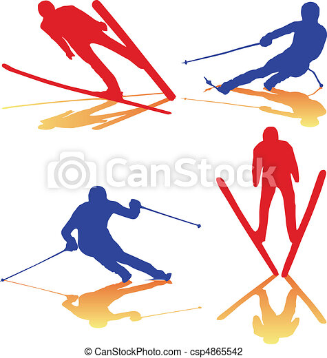 winter sports color vector vector illustration search clipart rh canstockphoto com  winter olympic sports clipart