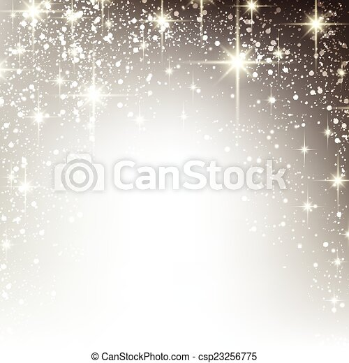 Winter starry christmas background. - csp23256775