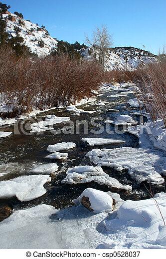 Winter Stream - csp0528037