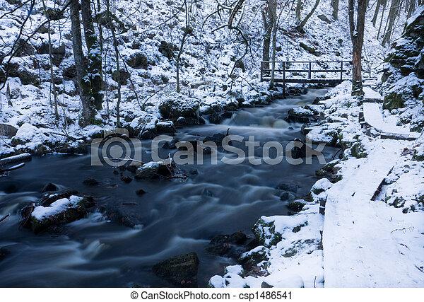 Winter stream - csp1486541
