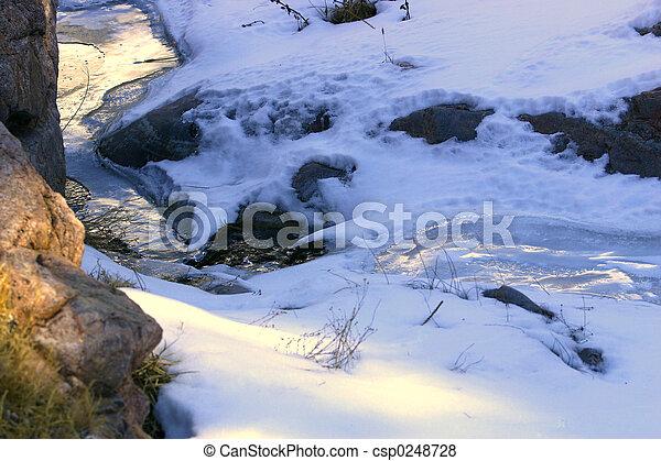 Winter Stream - csp0248728