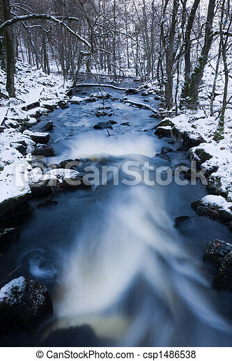 Winter stream - csp1486538
