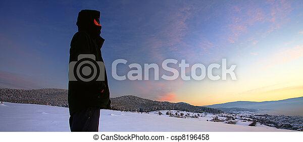 winter sunset - csp8196458
