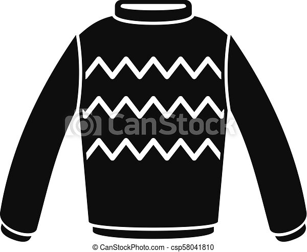Winter sweater icon, simple style