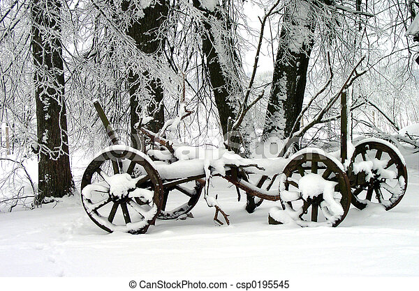winter- szene - csp0195545